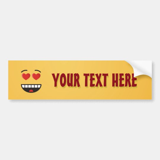 Smiling Face with Heart-Shaped Eyes Bumper Sticker