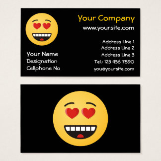 Smiling Face with Heart-Shaped Eyes Business Card