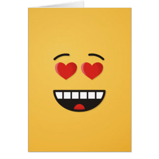 Smiling Face with Heart-Shaped Eyes Card