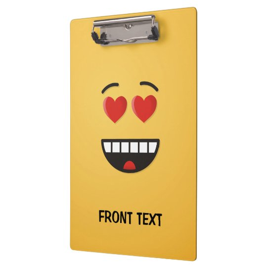 Smiling Face with Heart-Shaped Eyes Clipboard