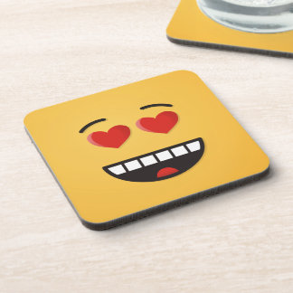 Smiling Face with Heart-Shaped Eyes Coaster