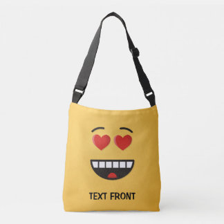 Smiling Face with Heart-Shaped Eyes Crossbody Bag