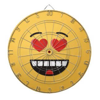 Smiling Face with Heart-Shaped Eyes Dartboard