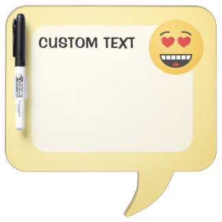 Smiling Face with Heart-Shaped Eyes Dry Erase Board