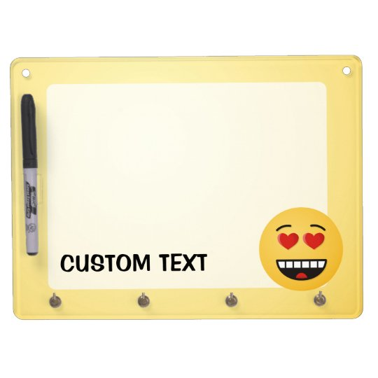 Smiling Face with Heart-Shaped Eyes Dry Erase Board With Key Ring Holder
