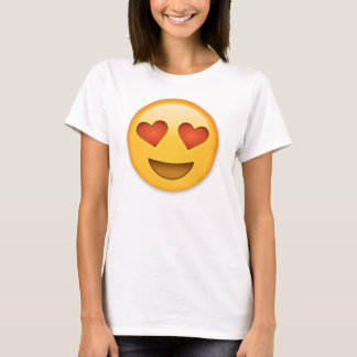 Smiling Face With Heart-Shaped Eyes emoji T-Shirt