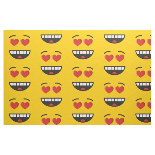 Smiling Face with Heart-Shaped Eyes Fabric