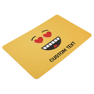 Smiling Face with Heart-Shaped Eyes Floor Mat