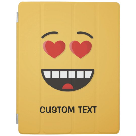 Smiling Face with Heart-Shaped Eyes iPad Cover