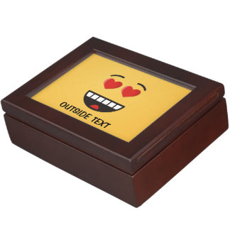 Smiling Face with Heart-Shaped Eyes Keepsake Box