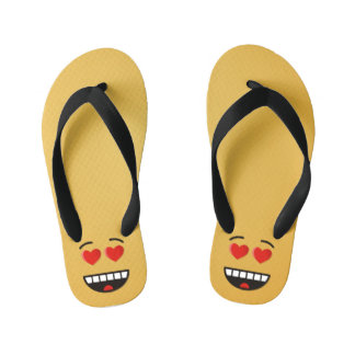 Smiling Face with Heart-Shaped Eyes Kid's Thongs