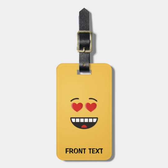 Smiling Face with Heart-Shaped Eyes Luggage Tag