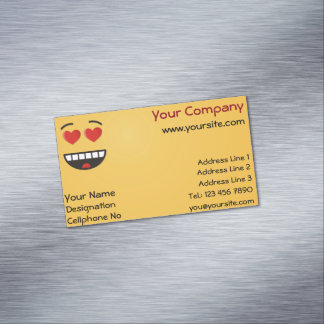 Smiling Face with Heart-Shaped Eyes Magnetic Business Card