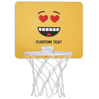 Smiling Face with Heart-Shaped Eyes Mini Basketball Hoop