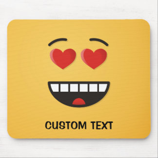 Smiling Face with Heart-Shaped Eyes Mouse Pad