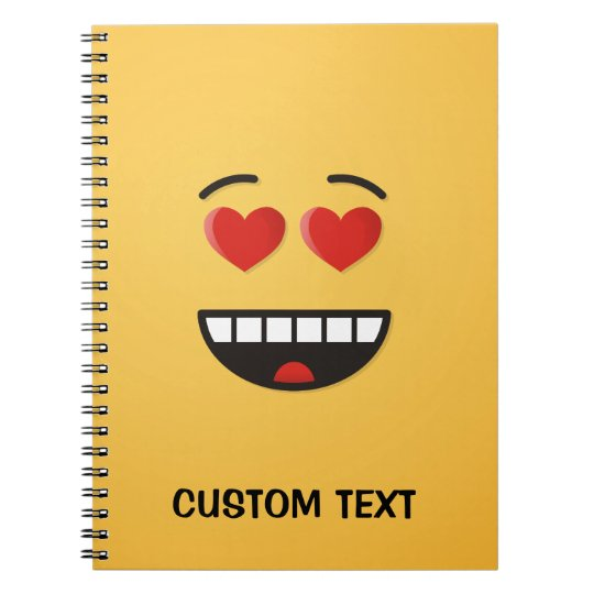 Smiling Face with Heart-Shaped Eyes Notebooks