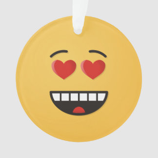 Smiling Face with Heart-Shaped Eyes Ornament