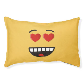 Smiling Face with Heart-Shaped Eyes Pet Bed