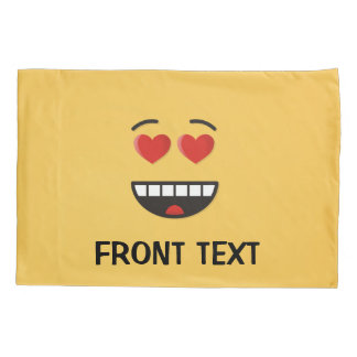 Smiling Face with Heart-Shaped Eyes Pillowcase
