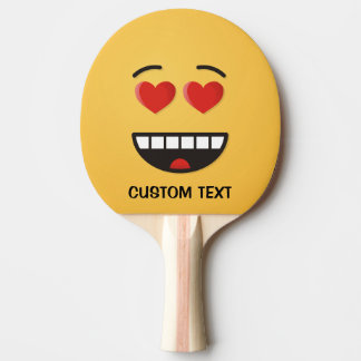 Smiling Face with Heart-Shaped Eyes Ping Pong Paddle