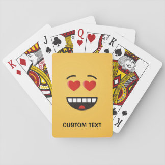 Smiling Face with Heart-Shaped Eyes Playing Cards