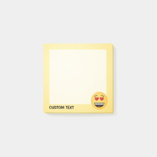 Smiling Face with Heart-Shaped Eyes Post-it Notes