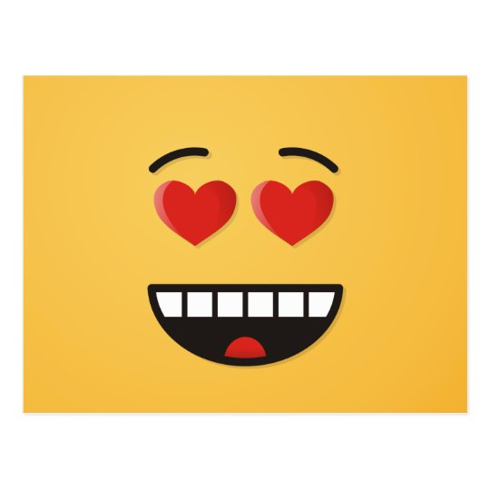 Smiling Face with Heart-Shaped Eyes Postcard