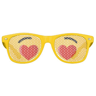 Smiling Face with Heart-Shaped Eyes Retro Sunglasses