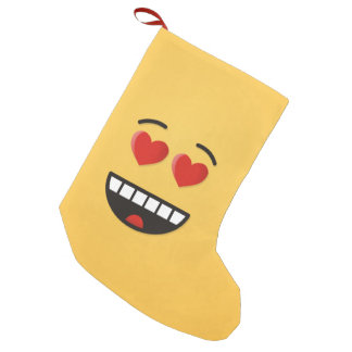 Smiling Face with Heart-Shaped Eyes Small Christmas Stocking