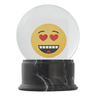 Smiling Face with Heart-Shaped Eyes Snow Globe