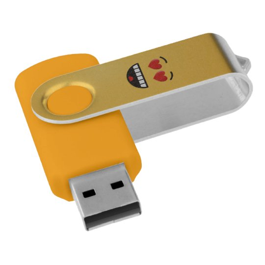 Smiling Face with Heart-Shaped Eyes USB Flash Drive