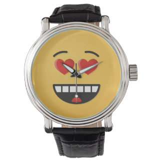 Smiling Face with Heart-Shaped Eyes Watch