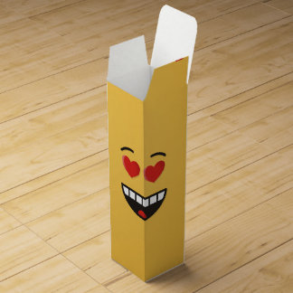 Smiling Face with Heart-Shaped Eyes Wine Gift Box