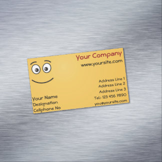 Smiling Face with Open Eyes Magnetic Business Cards