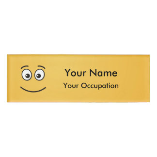 Smiling Face with Open Eyes Name Tag