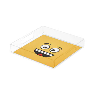Smiling Face with Open Mouth Acrylic Tray