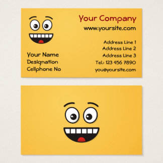 Smiling Face with Open Mouth Business Card