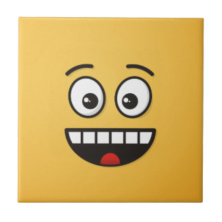 Smiling Face with Open Mouth Ceramic Tile