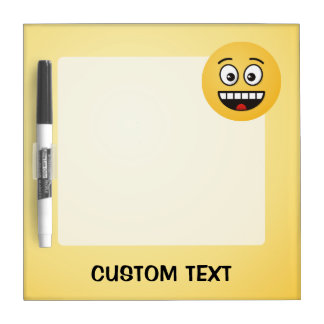 Smiling Face with Open Mouth Dry Erase Board