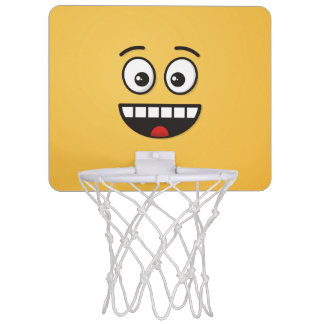 Smiling Face with Open Mouth Mini Basketball Hoop