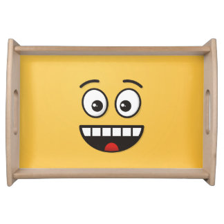 Smiling Face with Open Mouth Serving Tray