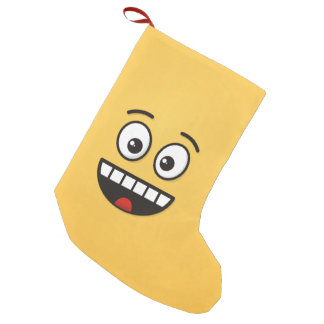 Smiling Face with Open Mouth Small Christmas Stocking