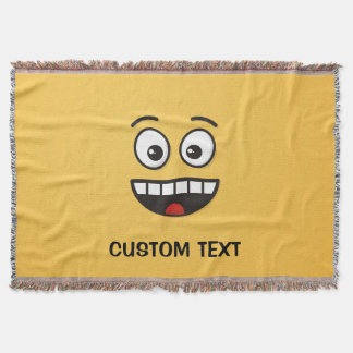 Smiling Face with Open Mouth Throw Blanket