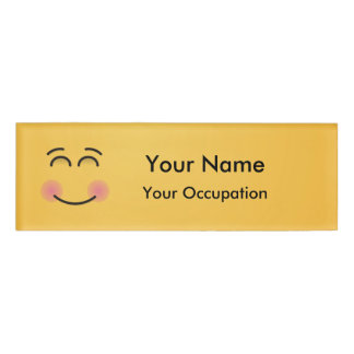 Smiling Face with Smiling Eyes Name Tag