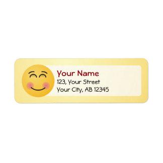 Smiling Face with Smiling Eyes Return Address Label