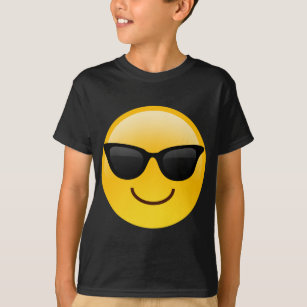 94d03b244 Smiling Face With Sunglasses Cool Emoji T-Shirt