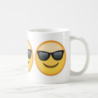 Smiling Face With Sunglasses Emoji Basic White Mug