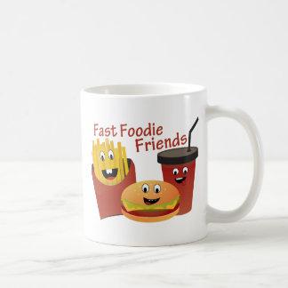 Smiling Fast Foodie Friends Mug