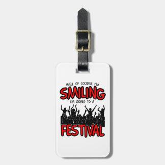SMILING FESTIVAL (blk) Bag Tag
