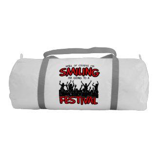SMILING FESTIVAL (blk) Gym Bag